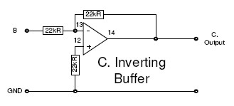 Unity gain inverting buffer