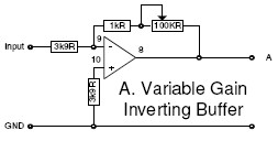 Variable gain inverting buffer